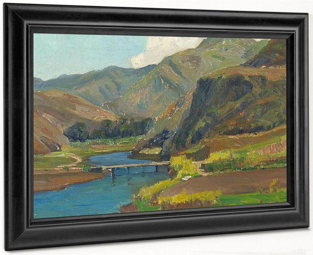 Bridge At Aliso Canyon By William Wendt