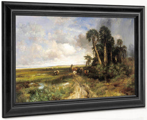 Bringing Home The Cattle    Coast Of Florida By Thomas Moran