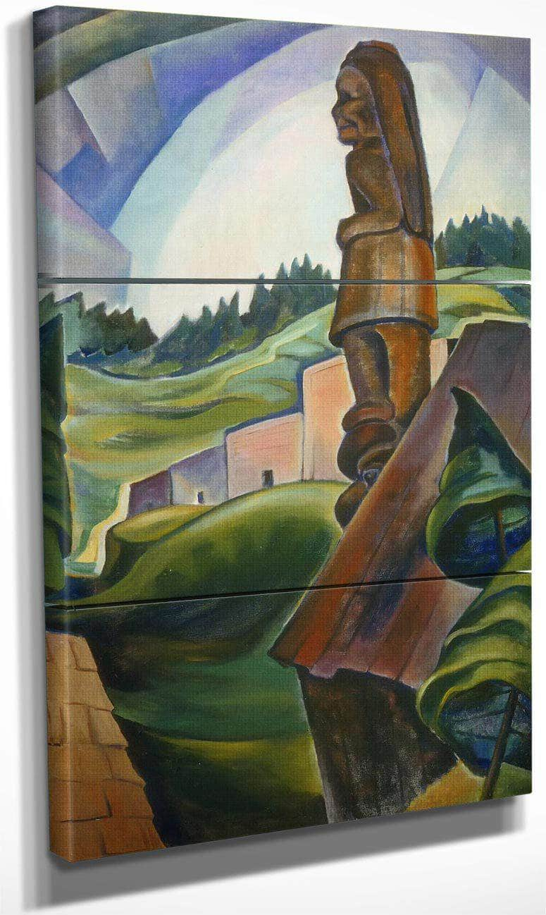 British Columbia Indian Village By Emily Carr