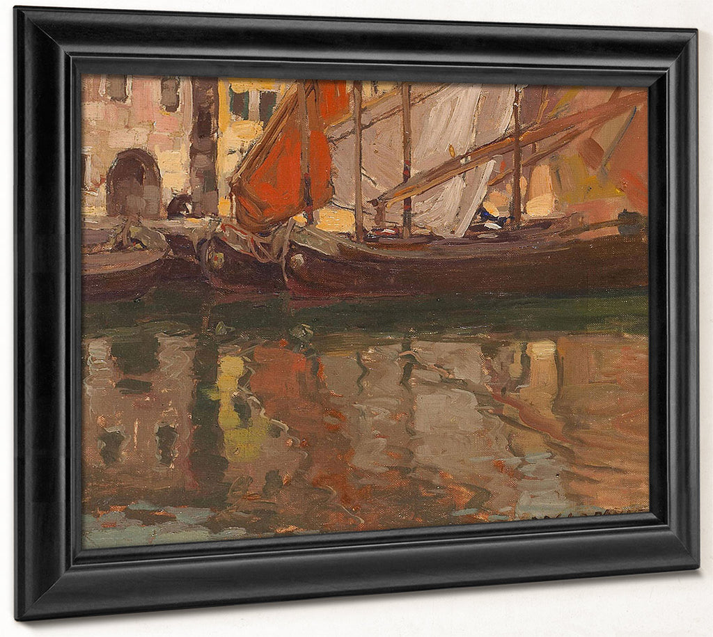 Brittany Boats By Edgar Payne...