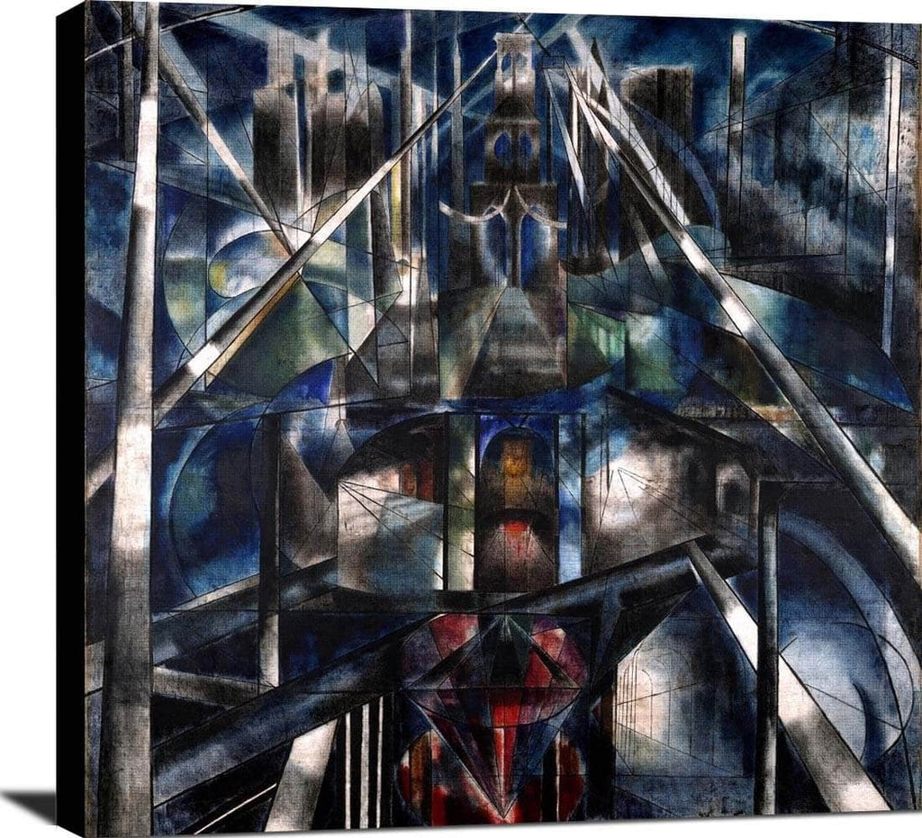 Brooklyn Bridge Painting Joseph Stella Canvas Art