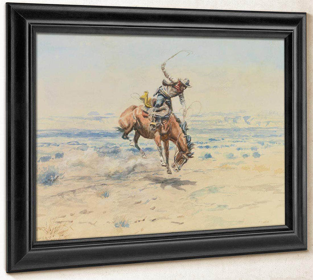 Bucking Bronc By Charles Marion Russell
