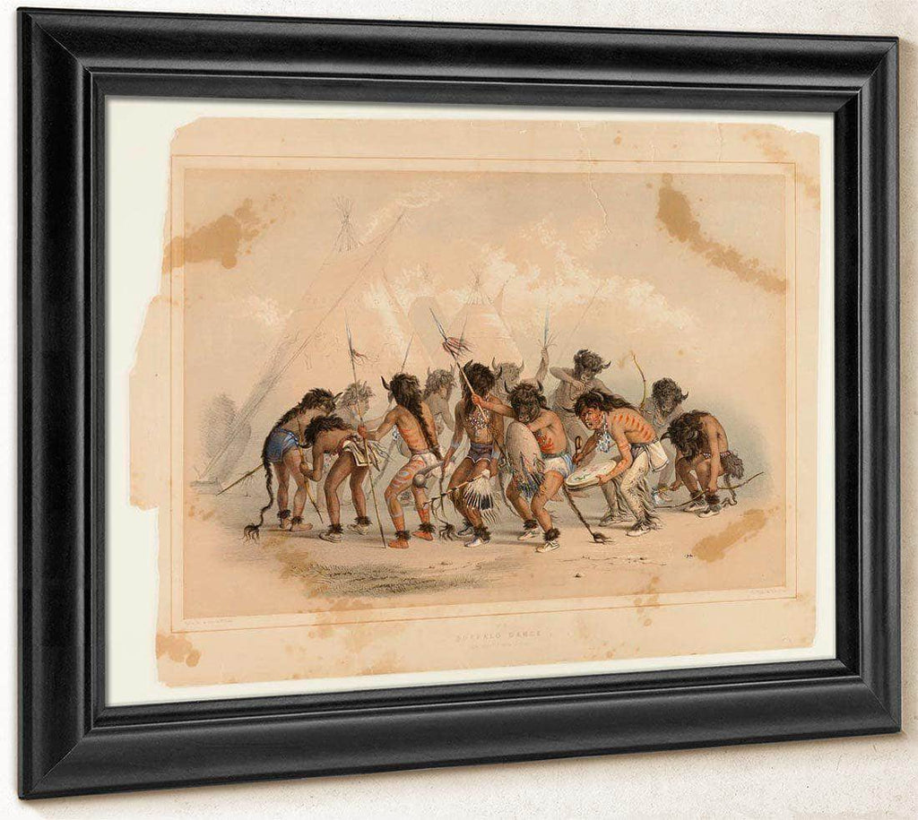 Buffalo Dance No.8 By George Catlin