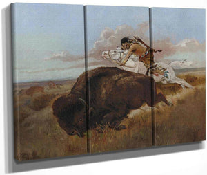 Buffalo Hunting By Charles Marion Russell