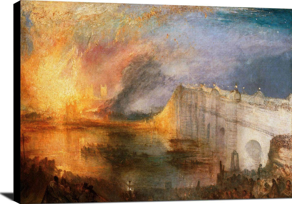 Burning Of The Houses Of Lords Commons Painting Jmw Turner Canvas Art