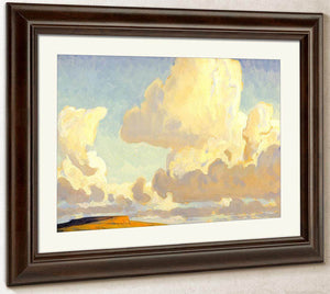 Butte And Clouds By Maynard Dixon