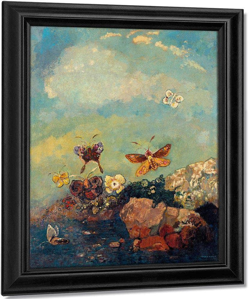 Butterflies 1910 73 9X54 9Cm Museum Of Modern Art By Odilon Redon