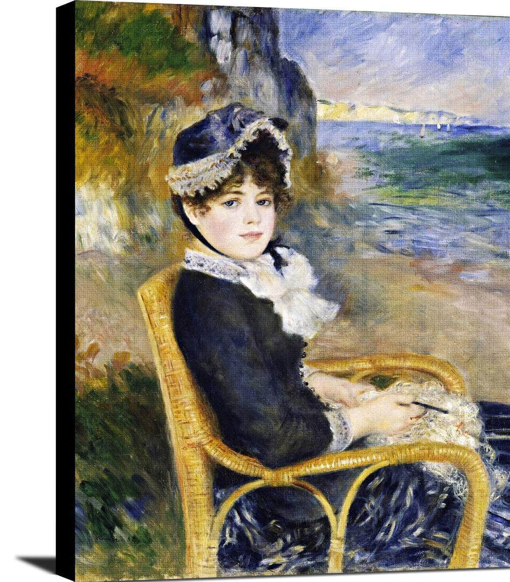 By The Seashore Painting Auguste Renoir Canvas Art