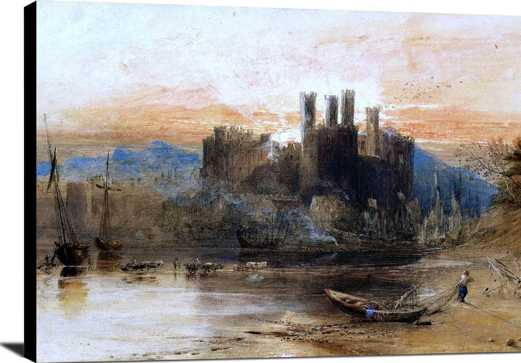 Caernarvon Castle, North Wales Painting Jmw Turner Canvas Art