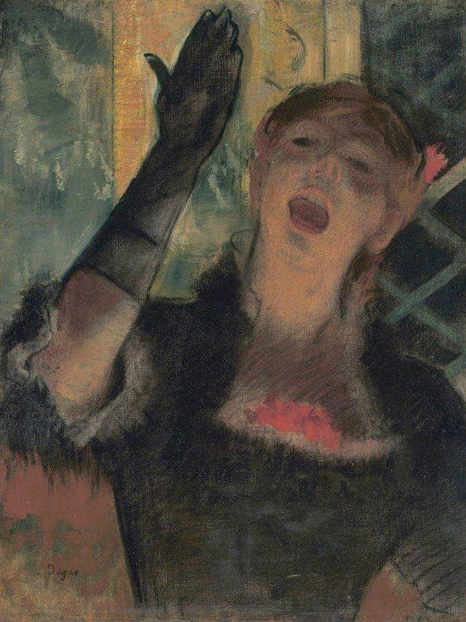 Cafe Singer By Edgar Degas