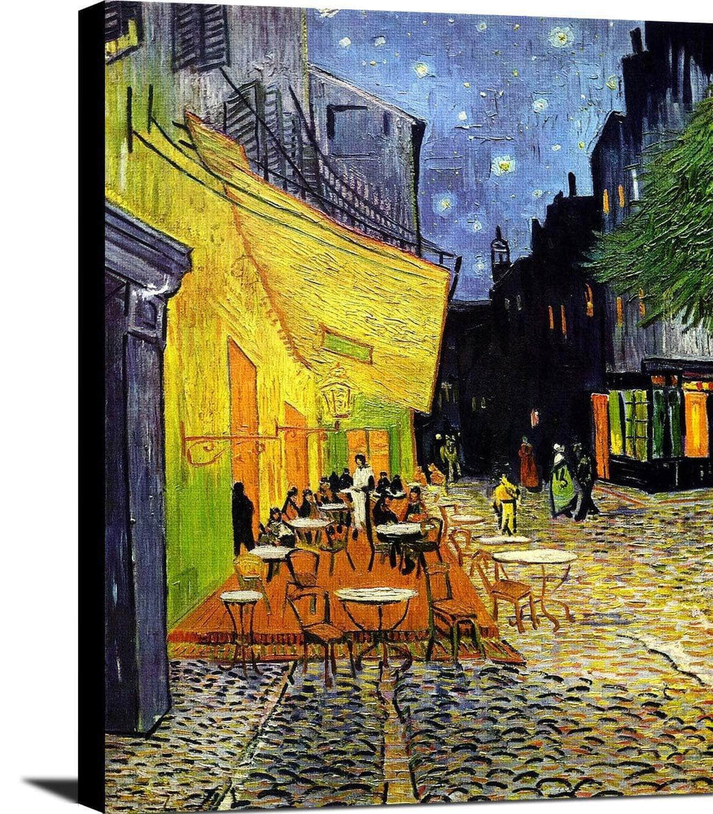 Cafe Terrace At Night Painting Vincent Van Gogh Canvas Art