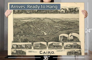 Cairo West Virginia 1899 Vintage Map
