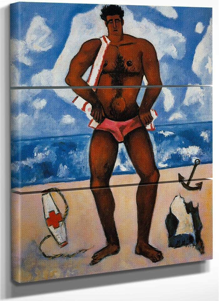 Canuck Yankee Lumberjack At Old Orchard Beach Maine By Marsden Hartley