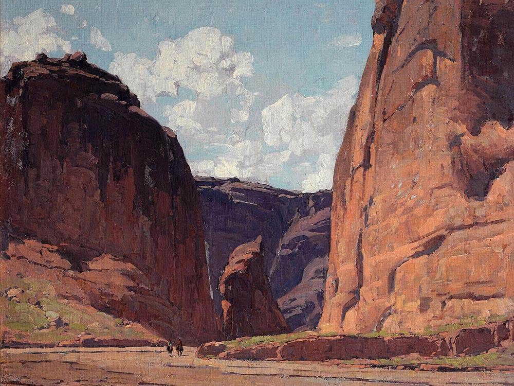 Canyon Gateway By Edgar Payne