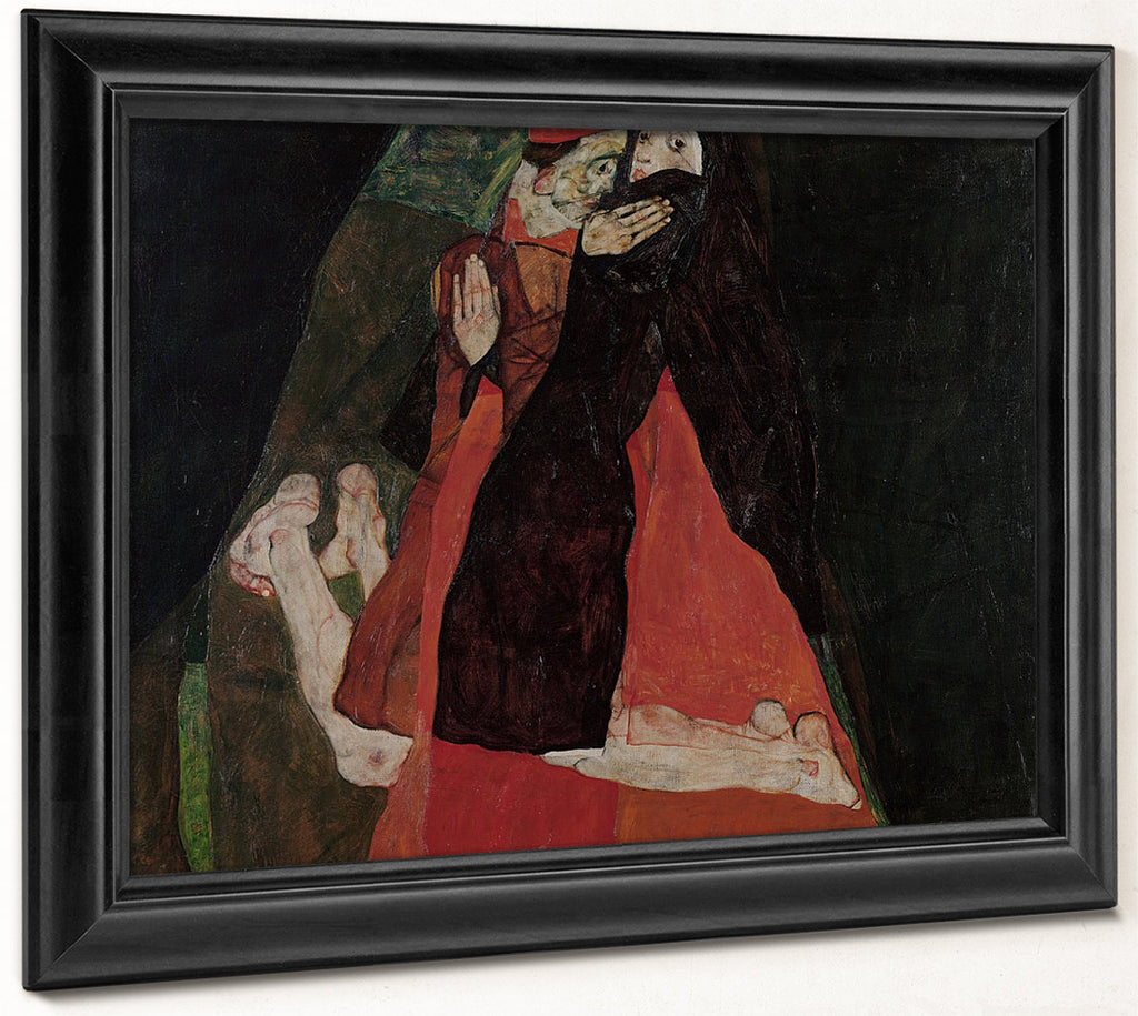 Cardinal And Nun Caress 1912 Expressionism Pc By Egon Schiele