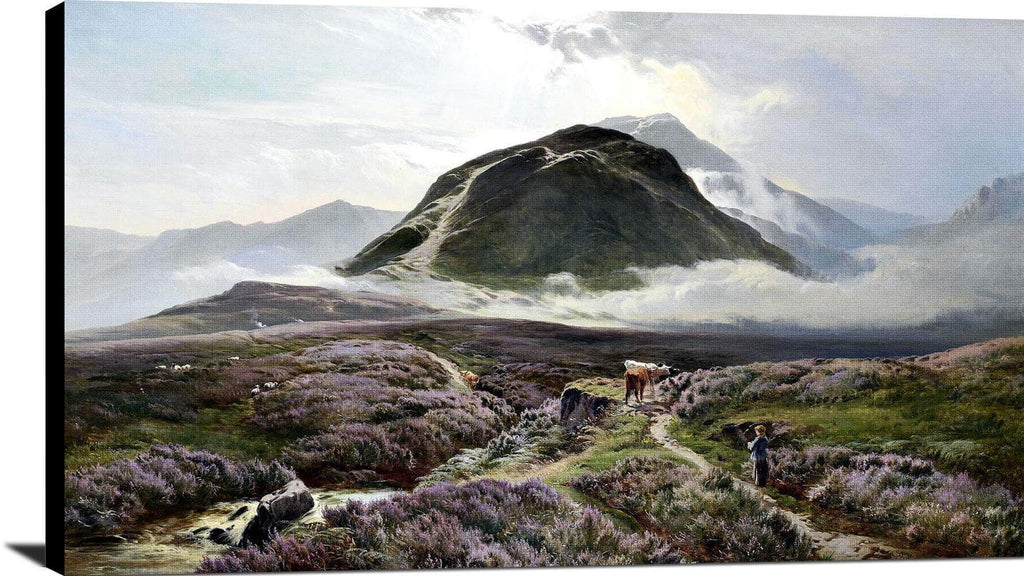 Carn Dearg & Ben Nevis From Achintee Painting Sidney Richard Percy Canvas Art