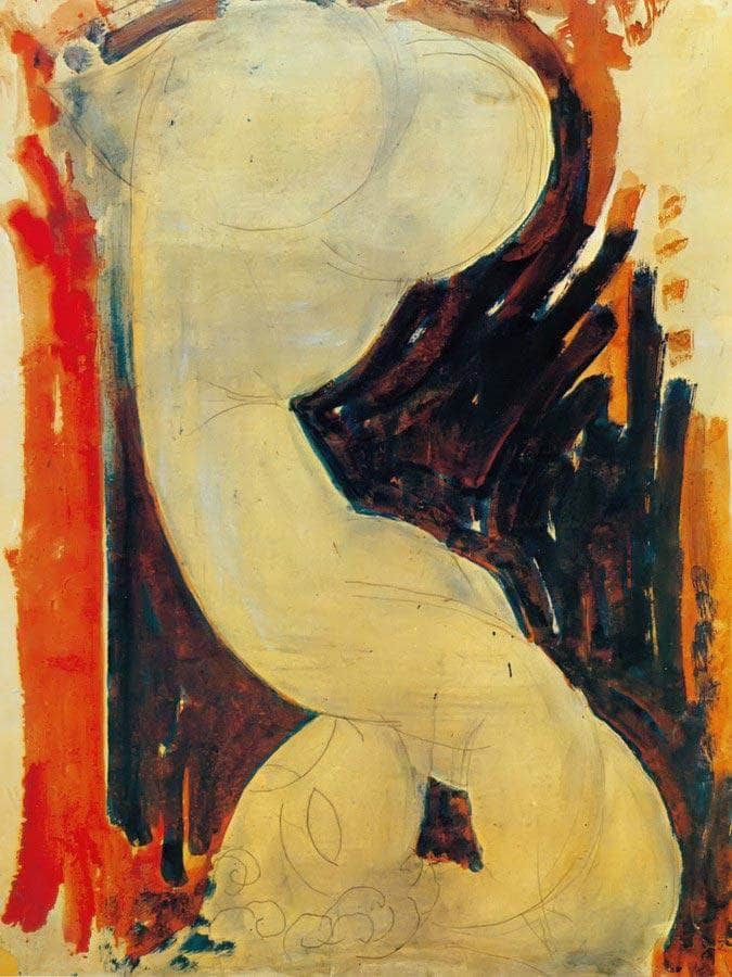 Caryatid 191314 By Amedeo Modigliani