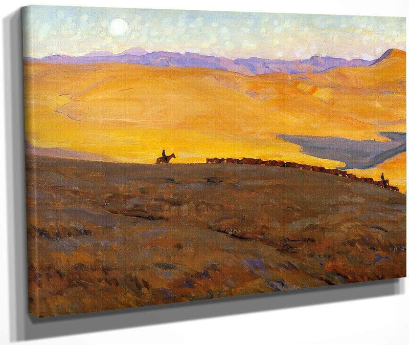 Cattle Country By Maynard Dixon