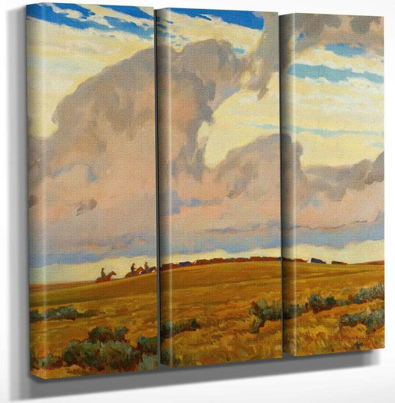 Cattle Range By Maynard Dixon