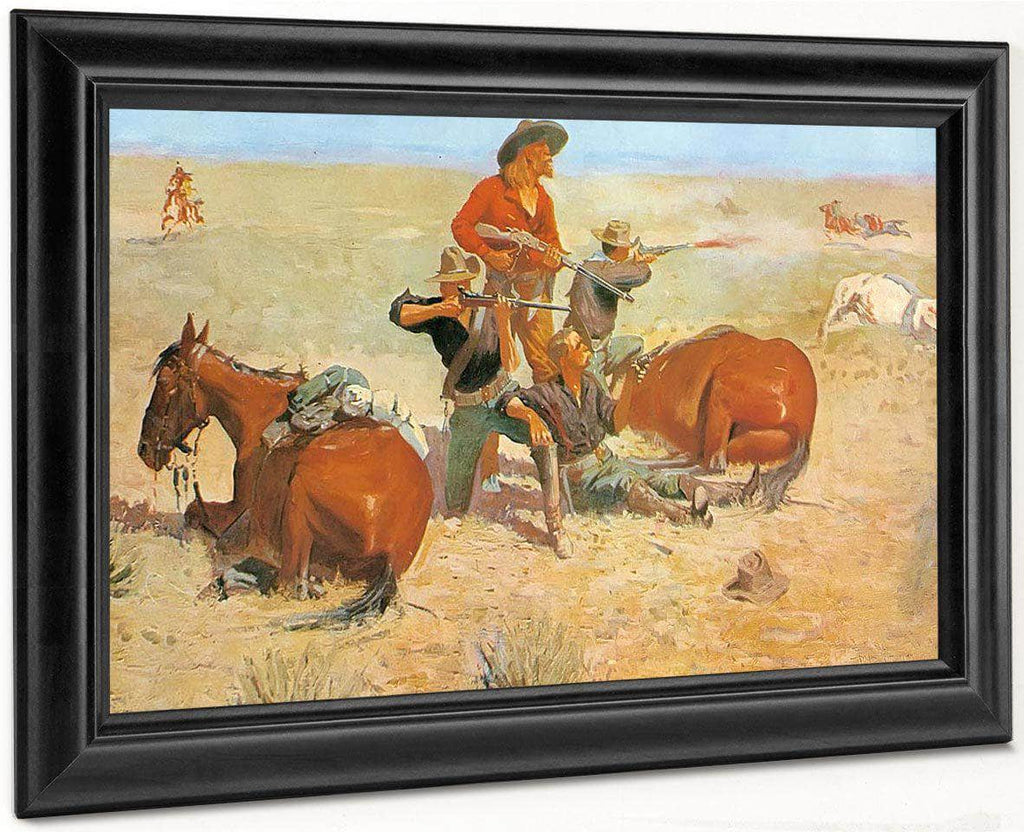 Caught In The Circle By Frederic Remington