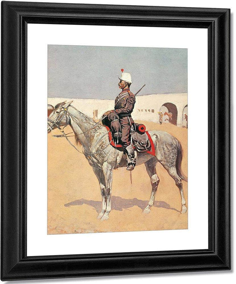 Cavalryman Of The Line,Mexico By Frederic Remington