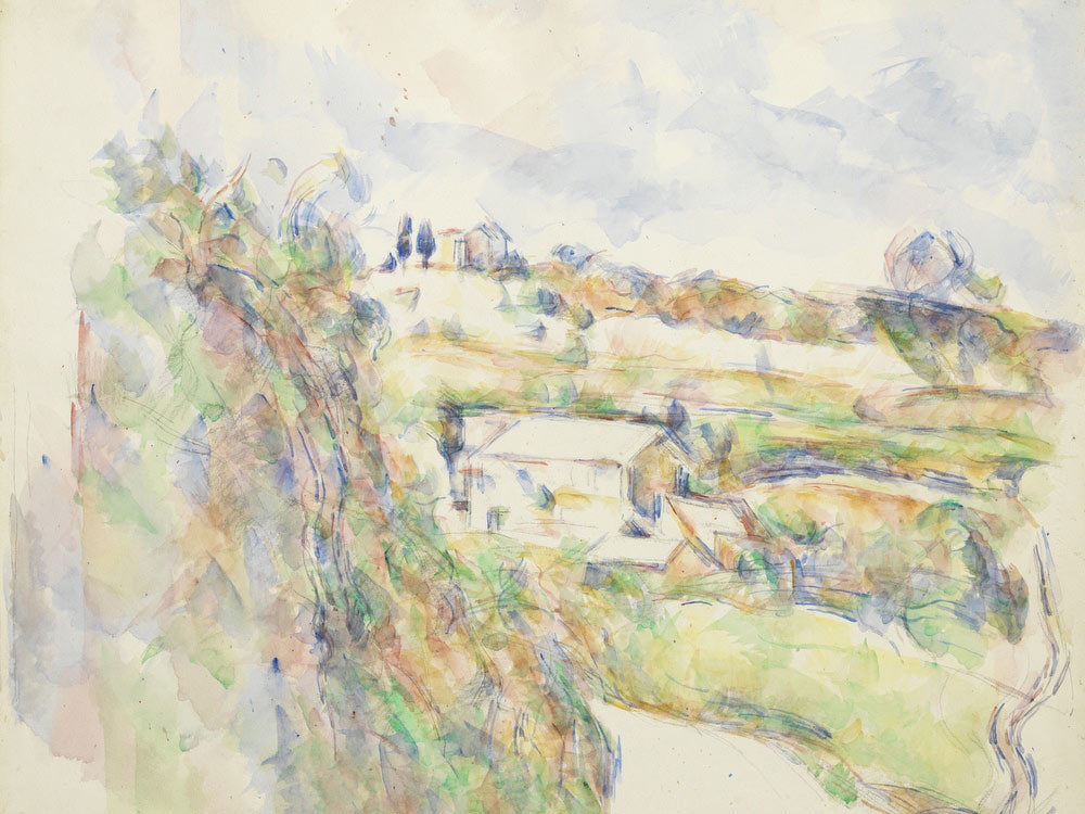 Chemin Des Lauves The Turn In The Road By Paul Cezanne