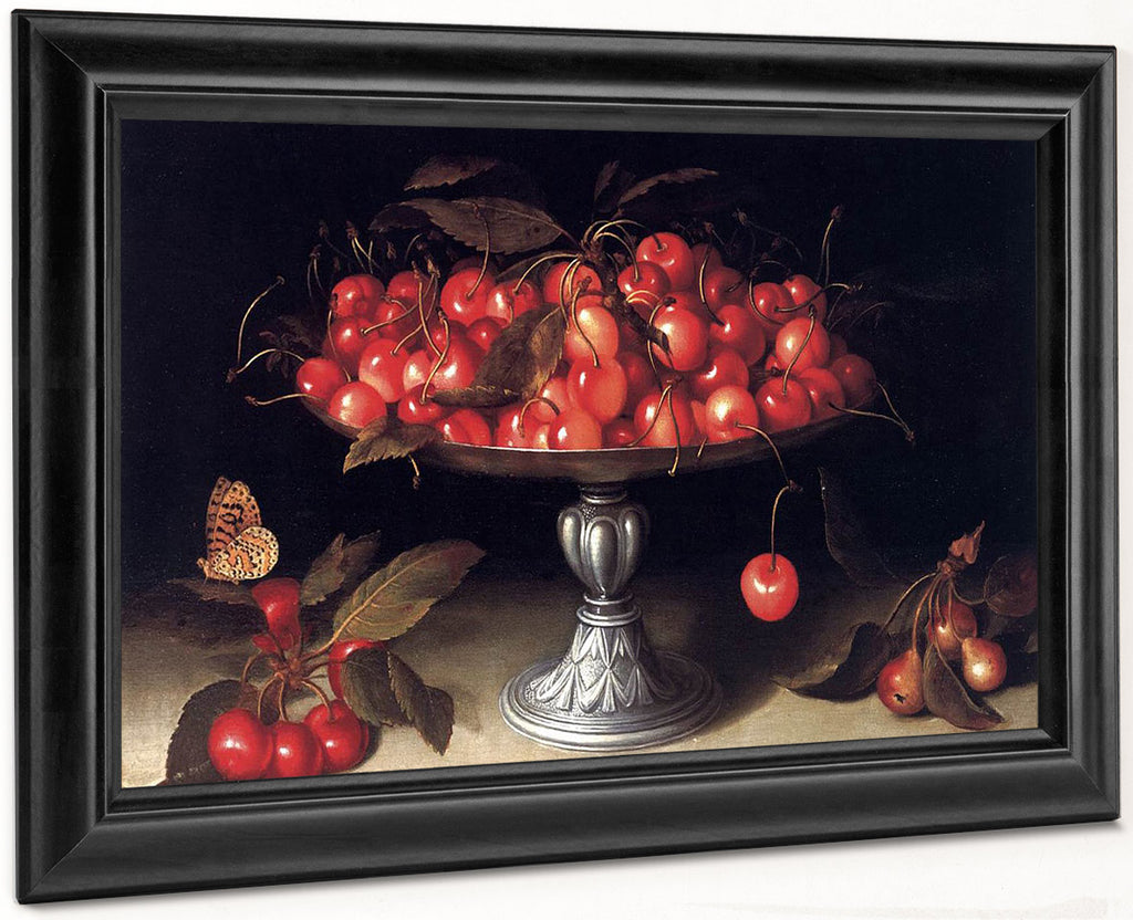 Cherries In A Silver Compote 1610 By Fede Galizia