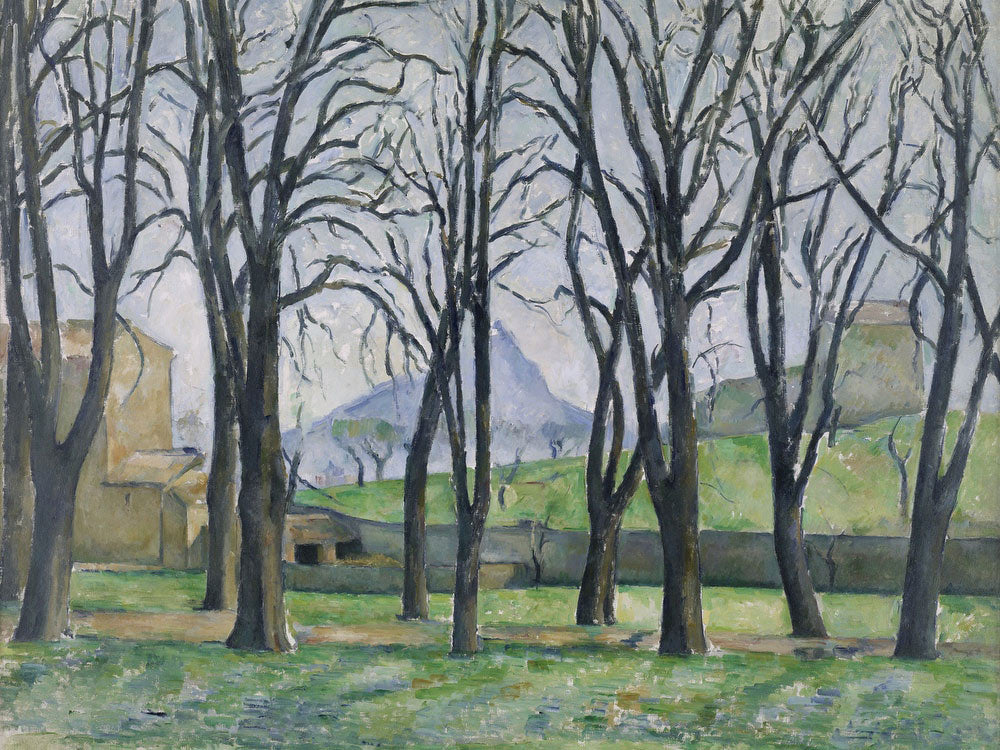 Chestnut Trees At Jas De Bouffan By Paul Cezanne