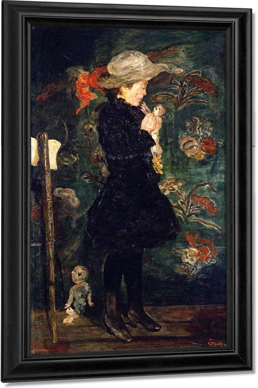 Child With Doll By James Ensor