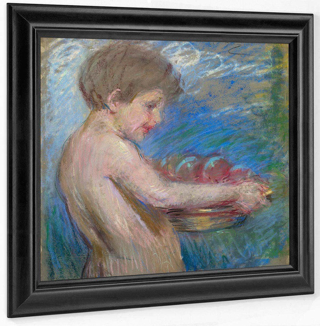 Child With Fruit By Alice Pike Barney