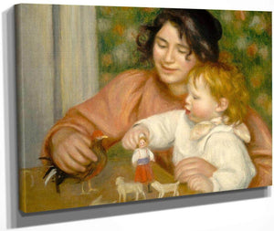 Child With Toys Gabrielle And The Artist S Son Jean Pierre Auguste Renoir 1896