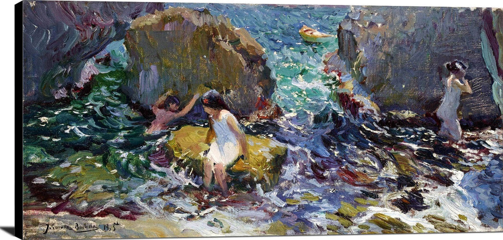Children On The Shore, Javea Painting Joaquin Sorolla Canvas Art