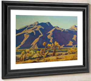 Chollas Against Mountains By Maynard Dixon
