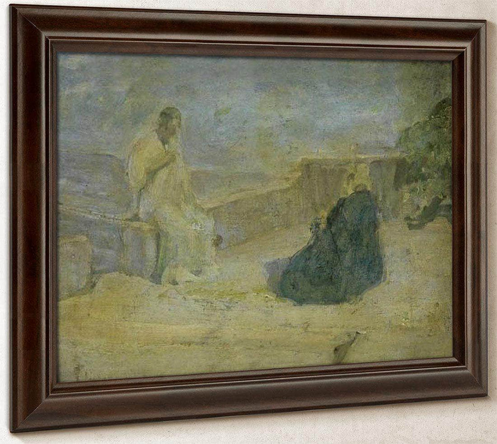 Christ And Nicodemus (Early Study) By Henry Ossawa Tanner