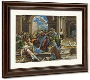 Christ Cleansing The Temple By El Greco