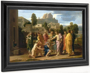 Christ Healing The Blind By Nicholas Poussin