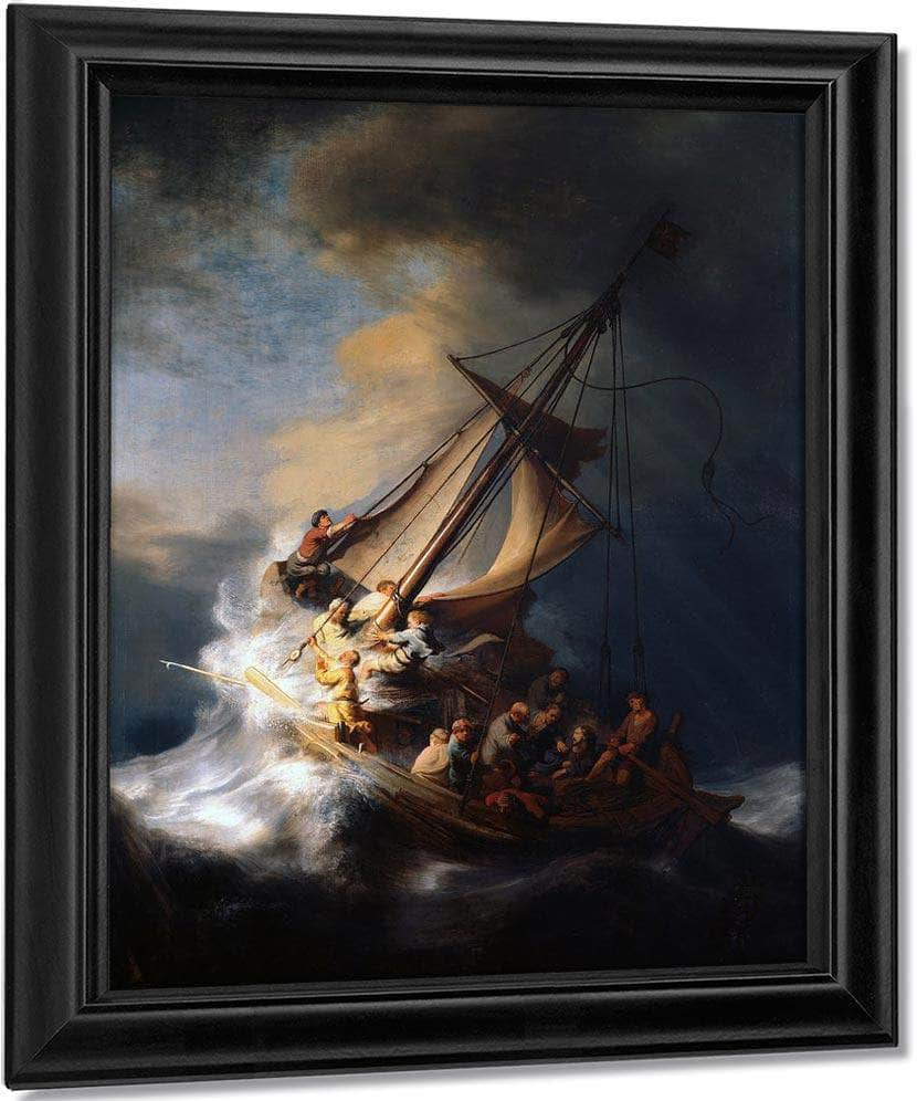 Christ In The Storm On The Sea Of Galilee 1633 By Rembrandt