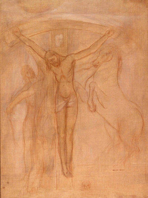 Christ On The Cross By Odilon Redon