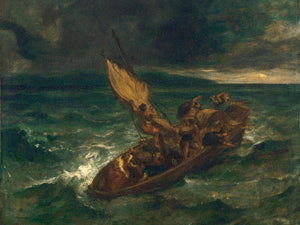 Christ On The Sea Of Galilee By Eugene Delacroix