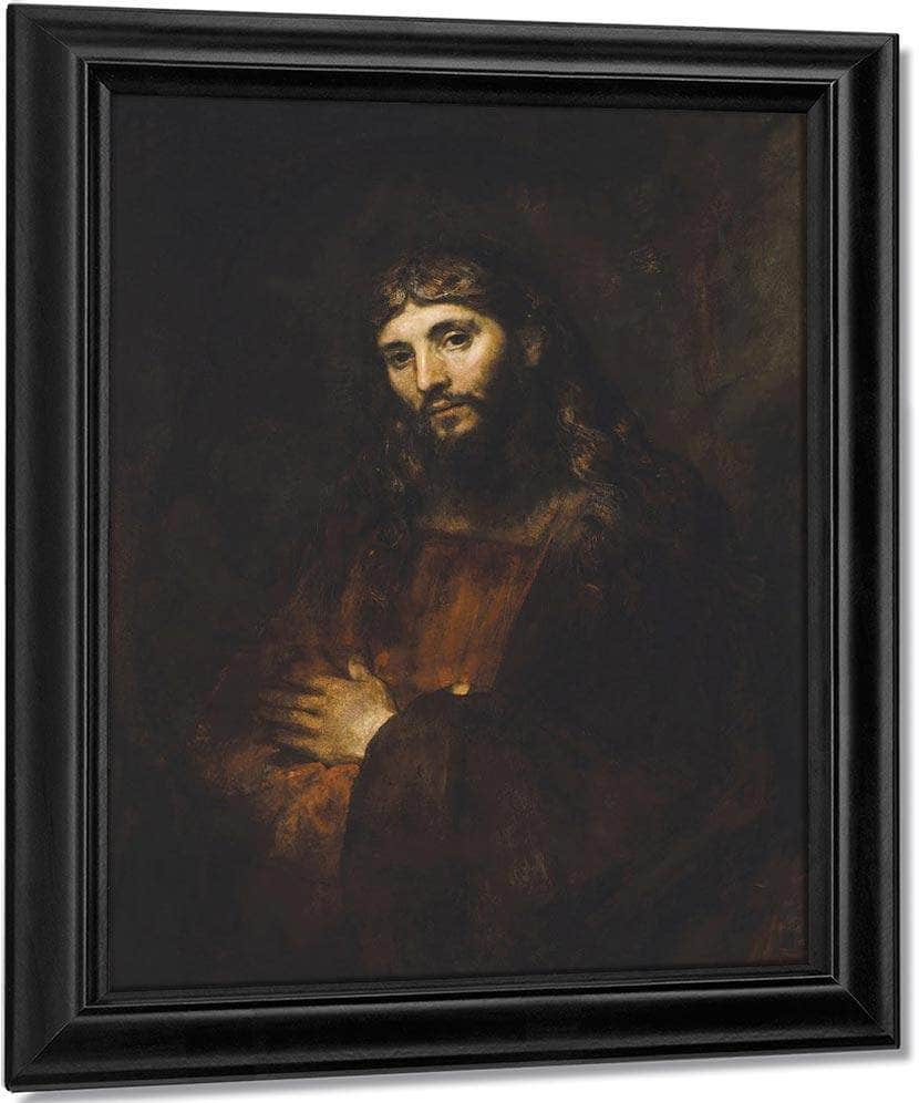 Christ With Arms Folded By Rembrandt