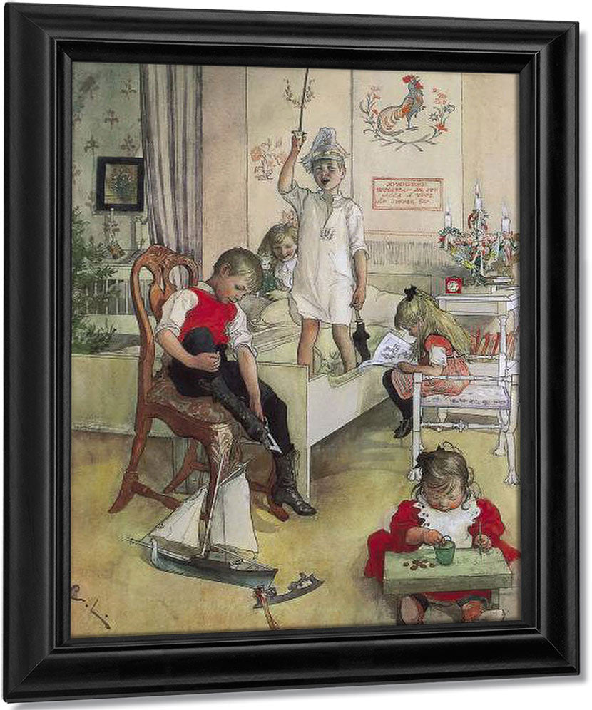 Christmas Morning By Carl Larsson