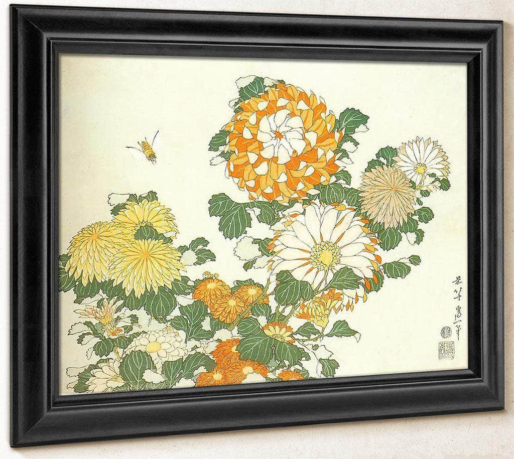 Chrysanthemum And Bee By Hokusai