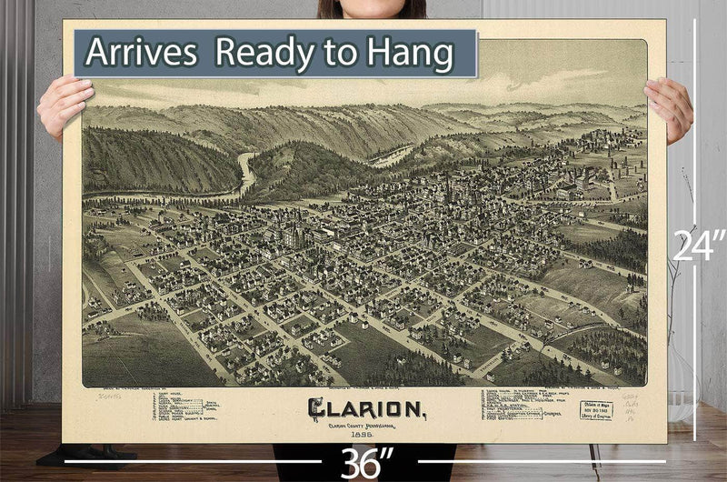 Clarion Clarion County Pennsylvania 1896 Vintage Map