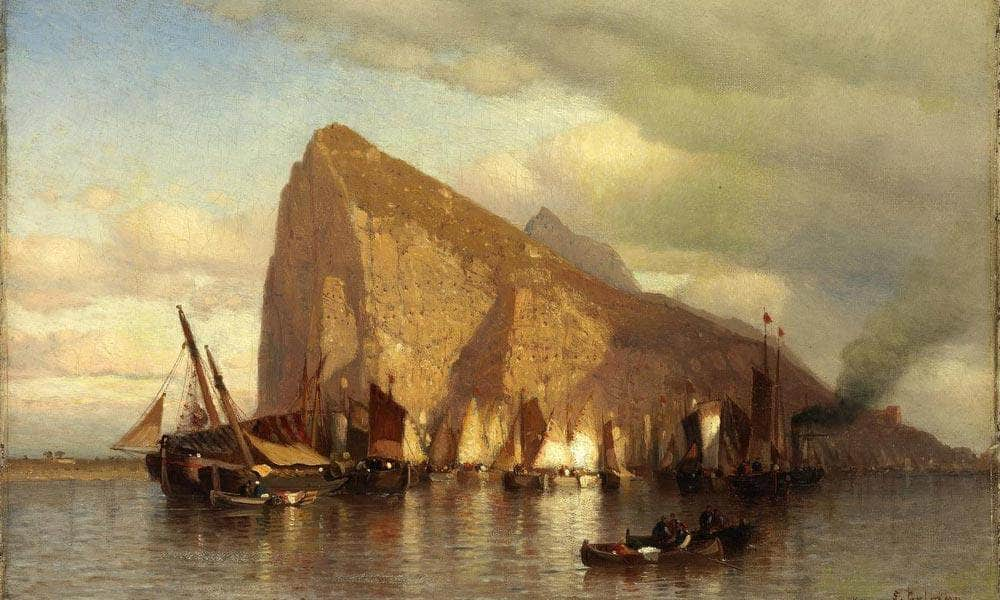 Clearing Storm At Gibraltar By Samuel Colman