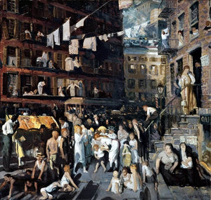 Cliff Dwellers Painting George Wesley Bellows Canvas Art