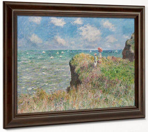 Cliff Walk At Pourville 1882 1 By Claude Monet