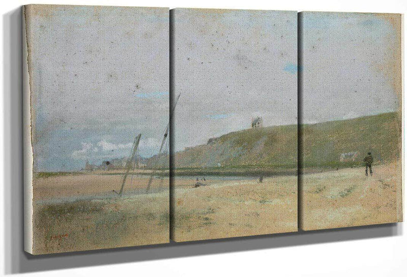 Cliffs On The Edge Of The Sea By Edgar Degas