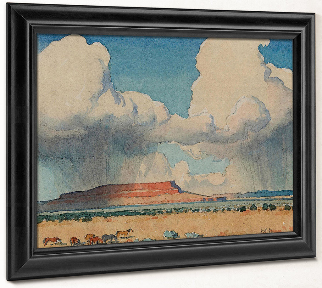 Clouds And Mesa Arizona 1945 By Maynard Dixon