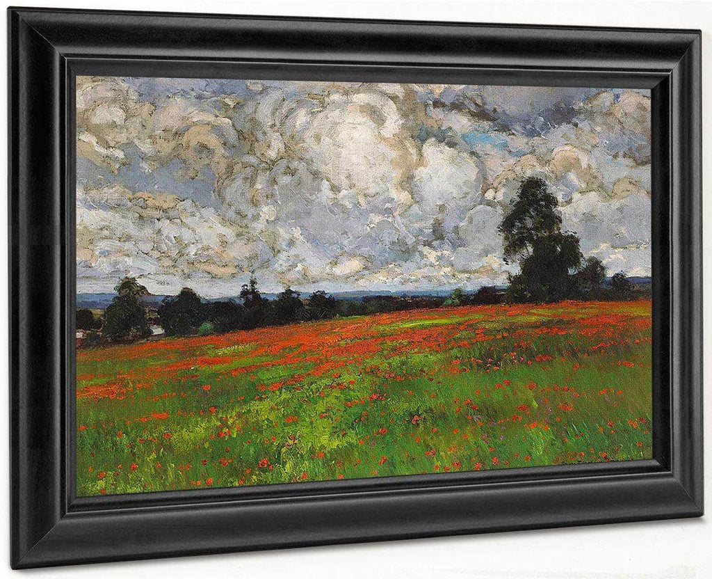 Clouds Over A Field Of Poppies 1899 By William Wendt