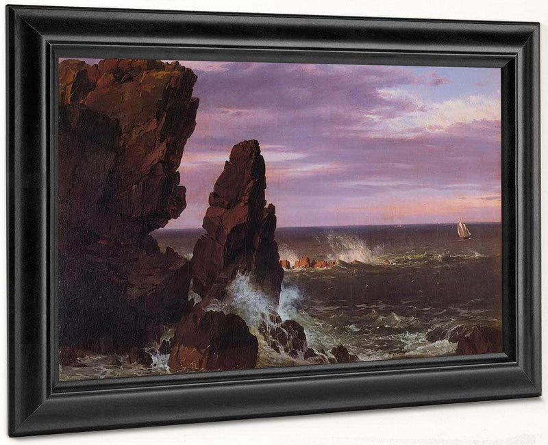Coast Scene By Fredric Edwin Church